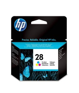 HP 28 Tri-Color DeskJet Ink Cartridge (C8728AE)