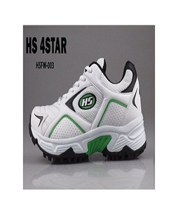 HS Cricket Shoes For Men Hs 4 Star White & Green