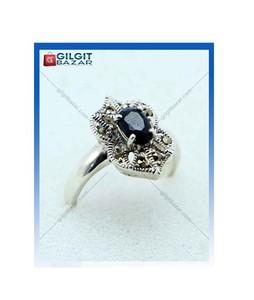 Gilgit Bazar Sapphire Stone Ring For Women (GB1894)