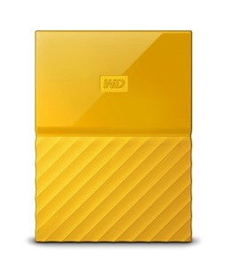 WD My Passport 4TB Portable External Hard Drive Yellow (WDBYFT0040BYL-WESN)