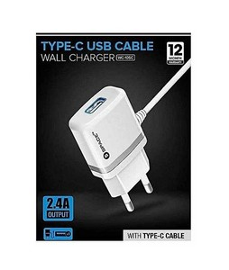 Space Type C USB Cable Wall Charger White (WC-105c)