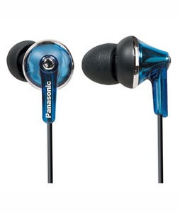Panasonic ErgoFit In-Ear Headphones With Mic Blue (RP-TCM190)
