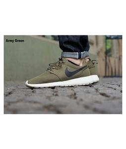 BoultonMarket Roshe Run Shoes For Men Army Green