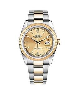 Rolex Datejust 36 Mens Watch Gold (116233-GLDSO)