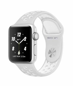 Apple iWatch Nike+ Series 2 38mm Silver Aluminum Case with Pure Platinum/White Nike Sport Band (MQ172)