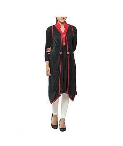 Bindas Collection Viscose Kurta For Women Black/Red (IL-0043)
