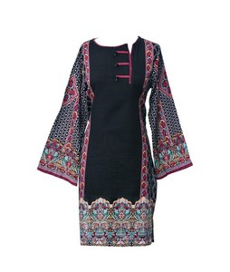 Khas Stores Khaddar Kurti For Women Multi Black (DR-163)