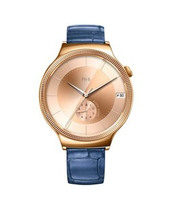 Huawei Elegant Womens 44mm Smartwatch Rose Gold with Blue Leather Band