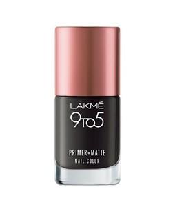Lakme 9To5 Primer+Mtt Nails Charcoal Matte 9Ml