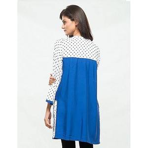 Mardaz Viscose Dot Printed Tunic For Women Blue