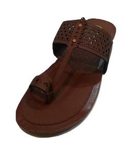 TA Shopping Kolapuri Slipper For Men Brown (SCM10)