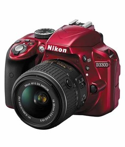 Nikon D3300 DSLR Camera with 18-55mm NVR Lens Red