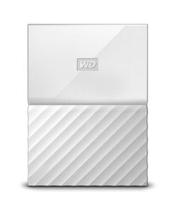 WD My Passport 1TB Portable External Hard Drive White (WDBYNN0010BWT)