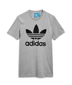 Next Adidas Originals Trefoil Mens T-Shirt Grey (430-497)