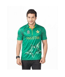 Rubian Polyester ICC T20 World Cup Pakistan Cricket T-Shirt For Men
