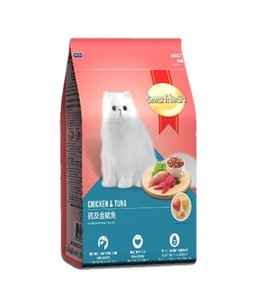 Smart Heart Chicken And Tuna Cat Food 1.2kg