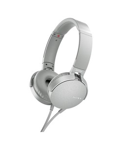 Sony Extra Bass On-Ear Headphones White (MDR-XB550AP)