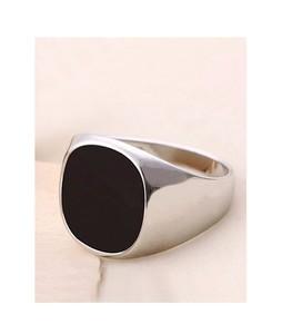 FirePark Stone Fashion Ring For Men Black