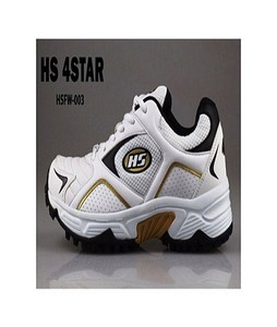 HS Cricket Shoes For Men Hs 4 Star White & Golden