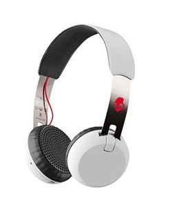 Skullcandy Grind Wireless On-Ear Headphones White/Black/Red (S5GBW-J472)