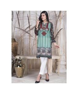 Khas Stores Kurti For Women Green Multi Mix (DR-158)