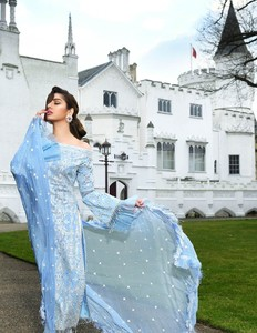 Asim Jofa Embroidered Luxury Lawn Collection 2018 Ice Blue (AJL-01B)