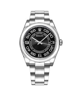 Rolex Oyster Perpetual 36 Mens Watch Silver (116000-BLKCAO)