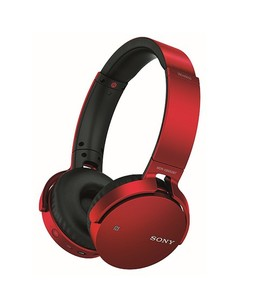 Sony Extra Bass Wireless Bluetooth On-Ear Headphones Red (MDR-XB650BT)
