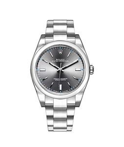 Rolex Oyster Perpetual Mens Watch Silver (114300-RHOSO)