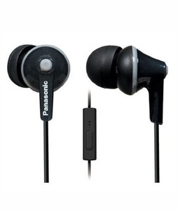 Panasonic ErgoFit In-Ear Headphones with Mic Black (RP-TCM125E)