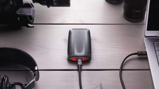 Samsung X5 1TB Portable External SSD Gray/Red (MU-PB1T0B/AM)