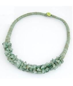 ZardiPK Stone Necklace For Women Green (AN31)