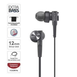 Sony Extra Bass In-Ear Headphones Black (MDR-XB55AP)