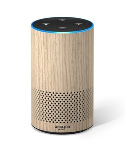 Amazon Echo 2nd Generation Smart Speaker Oak Finish