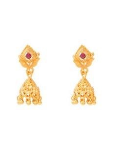 Asaan Buy Golden Jhumka Earrings Gold Plated (J-029)
