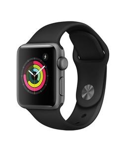 Apple Watch Series 3 38mm Space Gray Aluminium Black Sport Band GPS (MTF02LL/A)