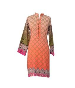 Khas Stores Khaddar Kurti For Women Orange (DR-200)