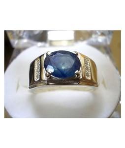 Rings Portal Sapphire Ring For Men Blue