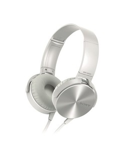 Sony Extra Bass On-Ear Headphones White (MDR-XB450AP)