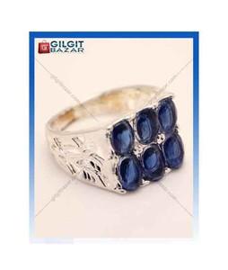 Gilgit Bazar Sapphire Stone Ring For Men (GB1183)
