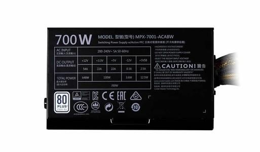 Cooler Master MasterWatt Lite 700W Power Supply (MPX-7001-ACABW)