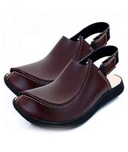 Oasis Leather Peshawari Sandals For Men Brown