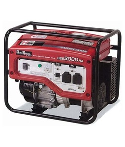 Daishin Honda 2 KVA Generator Without Battery And Wheel Kit Red (SEB-3000)