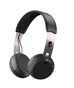 Skullcandy Grind Wireless On Ear Headphone Black/Chrome (S5GBW-J539)