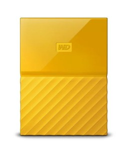 WD My Passport 1TB Portable External Hard Drive Yellow (WDBYNN0010BYL)