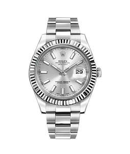 Rolex Datejust 41 Mens Watch Silver (116334-SLVSFO)