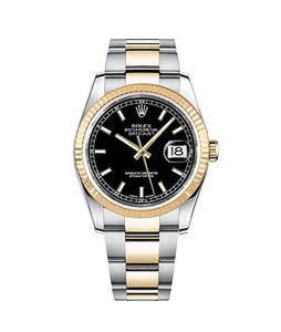 Rolex Datejust 36 Mens Watch Yellow Gold (116233-BLKSO)