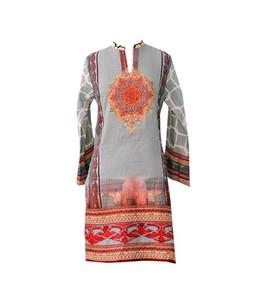 Khas Stores Khaddar Kurti For Women Printed Gray (DR-191)