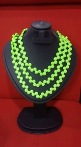 Sports Intelligence Green Beads Long Necklace For Women