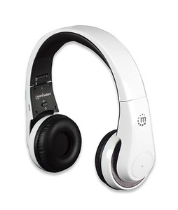 Manhattan Flyte Wireless Bluetooth On-Ear Headphone White (178136)